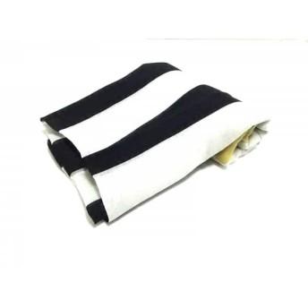 【中古】 ジバンシー ストール(ショール) 美品 ライトグレー 黒 マルチ スカル/ストライプ ウール
