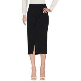《セール開催中》COCCAPANI TREND レディース 7分丈スカート ブラック 46 ポリエステル 98% / ポリウレタン 2%