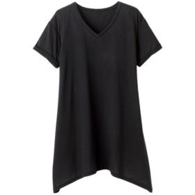 ラナン レディゆるシルエットTシャツ レディース ブラック LL 【Ranan】