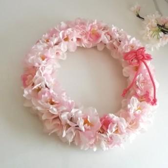 桜のリース 春爛漫 満開の桜 定形外発送OK