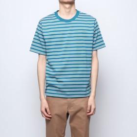 コムサイズム COMME CA ISM ボーダー Tシャツ (ブルー)