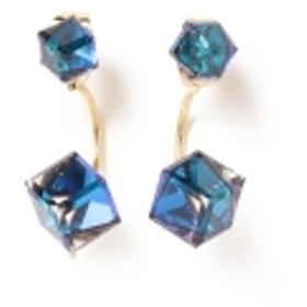 Ray BEAMS / ガラスキューブ ピアス レディース ピアス(両耳用) BLUE ONE SIZE