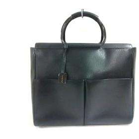 【中古】 グッチ GUCCI ビジネスバッグ - - 黒 レザー 金属素材