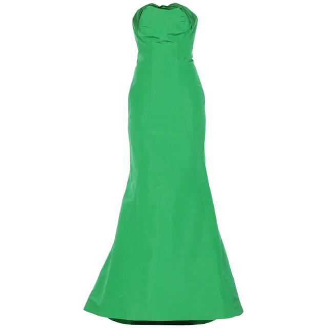 《セール開催中》ZAC POSEN レディース ロングワンピース&ドレス グリーン 0 シルク 100%