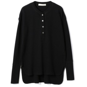 ESTNATION / ワッフルヘンリーネックカットソー ブラック/38(エストネーション)◆レディース Tシャツ/カットソー