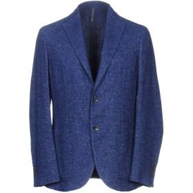《9/20まで! 限定セール開催中》MONTEDORO メンズ テーラードジャケット ブルー 48 ウール 60% / 指定外繊維(ヘンプ) 24% / ナイロン 16%