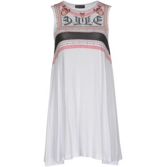 《期間限定 セール開催中》LES CLAIRES レディース ミニワンピース&ドレス ホワイト M レーヨン 95% / ポリウレタン 5%