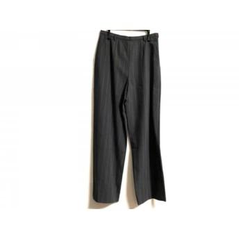 【中古】 ジョルジオアルマーニ パンツ サイズ42 M レディース グレー ベージュ ストライプ