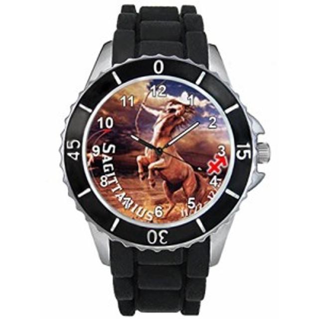 シリコーンバンドとの射手座十二宮合図男女両用デザイン時計