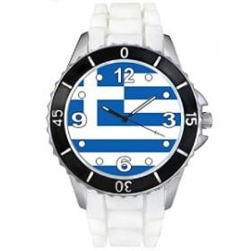 Timest--ギリシャフラグ--(ホワイトSE0418wの中のシリコーンストラップとの男女両用の時計)