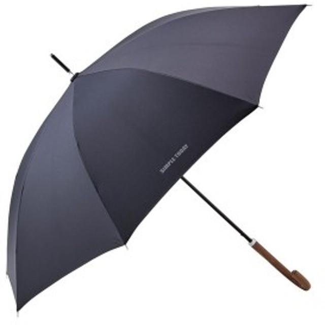 シンプルトゥディ晴雨兼用ジャンプ長傘ブラック 714084