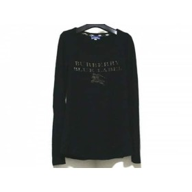【中古】 バーバリーブルーレーベル 長袖カットソー サイズ38 M レディース 黒 グレー