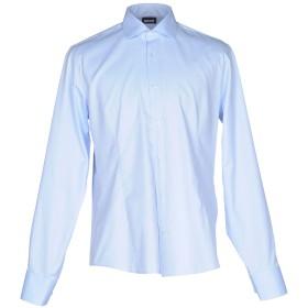 《期間限定セール開催中!》JUST CAVALLI メンズ シャツ アジュールブルー 41 コットン 100%
