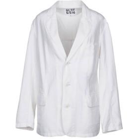 《期間限定セール開催中!》NLST レディース テーラードジャケット ホワイト M コットン 70% / 指定外繊維(ヘンプ) 30%