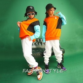 キッズ ダンス 衣装 子供 ヒップホップ ダンス衣装 ジャズダンス 練習着 体操服 舞台衣装 HIPHOP JAZZ 長袖パーカー セットアップ