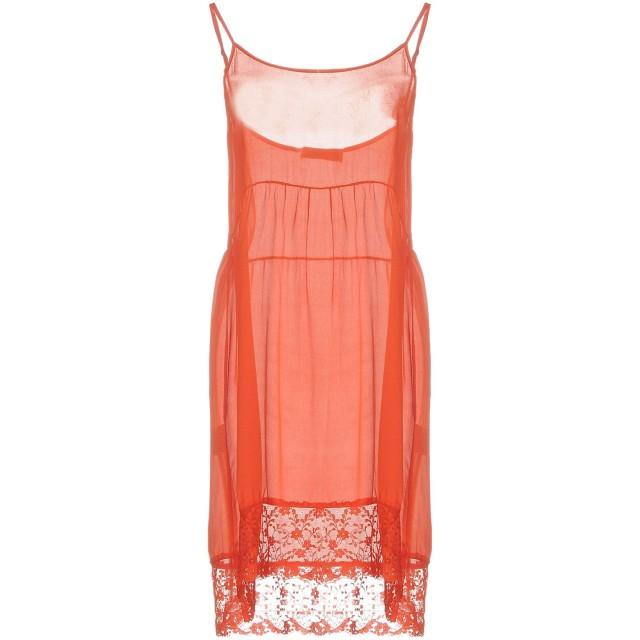 《期間限定 セール開催中》ANNA RACHELE JEANS COLLECTION レディース ミニワンピース&ドレス 赤茶色 42 レーヨン 70% / シルク 30%
