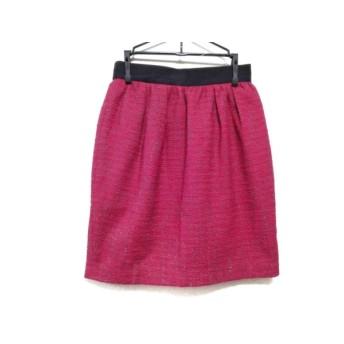【中古】 ジャスグリッティー JUSGLITTY スカート サイズ0 XS レディース 美品 レッド 黒 グレー