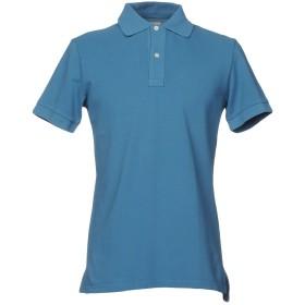 《期間限定セール開催中!》HAMPTONS メンズ ポロシャツ ブルーグレー S コットン 100%
