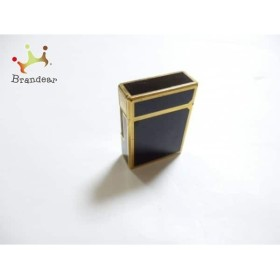 a975109beff0 デュポン Dupont ライター 黒×ゴールド 着火確認できず 金属素材 新着 20190407