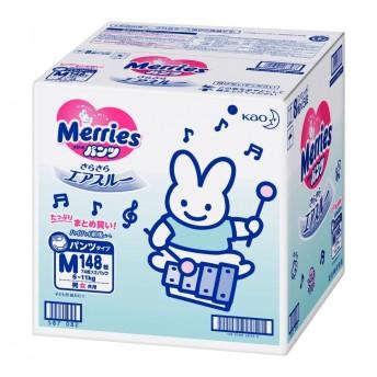 【パンツタイプ】メリーズパンツ Mサイズ 148枚(カートン 箱入り)