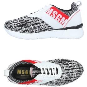 《期間限定 セール開催中》MSGM レディース スニーカー&テニスシューズ(ローカット) ブラック 35 革 / 化学繊維