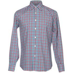 《期間限定セール開催中!》CANALI メンズ シャツ ターコイズブルー S コットン 100%