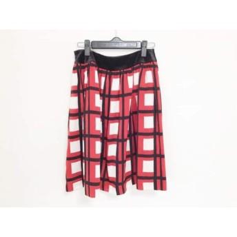 【中古】 エムズグレイシー M'S GRACY ミニスカート サイズ38 M レディース レッド 黒 白