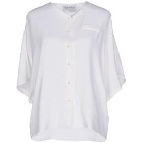 《セール開催中》OSMAN レディース シャツ ホワイト 6 アセテート 55% / シルク 45%