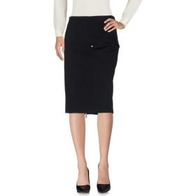 《セール開催中》COCCAPANI TREND レディース ひざ丈スカート ブラック 44 ポリエステル 74% / レーヨン 22% / ポリウレタン 4%