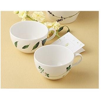 エールネット(Ale-net) 中鉢 白 23.5×12.5×6.8cm リゾート ペアスープカップ