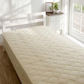 夏はさらり冬はあたたかなウールを中材に使った洗えるベッドパッド