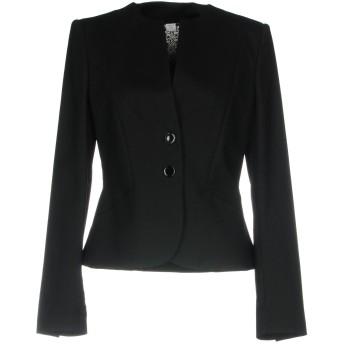 《9/20まで! 限定セール開催中》MARELLA レディース テーラードジャケット ブラック 42 コットン 96% / ポリウレタン 4%