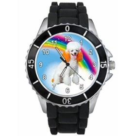 シリコーンバンドとのプードル男女両用デザイン時計