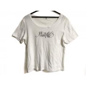 【中古】 ニジュウサンク 23区 半袖Tシャツ サイズ44 L レディース 白 ラメ