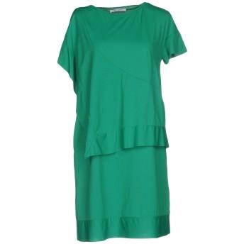 《セール開催中》OBLIQUE CREATIONS レディース ミニワンピース&ドレス グリーン 0 ナイロン 89% / ポリウレタン 11%