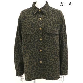 ジャケット・ブルゾン - ANAP ウォッシュ加工レオパード柄シャツジャケット