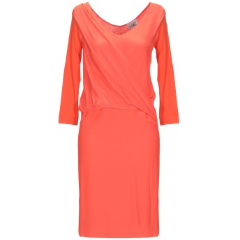 《セール開催中》VIOLET ATOS LOMBARDINI レディース ミニワンピース&ドレス オレンジ 40 レーヨン 90% / ポリウレタン 10%
