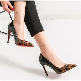 パンプス 結婚式 ピンヒール ヒョウ柄 ハイヒール 6cm 8cm 10cmポインテッドトゥ レディース靴 お呼ばれ フォーマル 結婚式 二次会 セクシー美脚