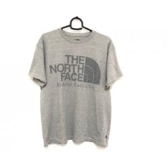 【中古】 ノースフェイス THE NORTH FACE 半袖Tシャツ サイズS メンズ ライトグレー グレー