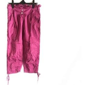 【中古】 アルマーニジーンズ ARMANIJEANS パンツ サイズ36 S レディース ピンク スパンコール