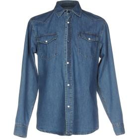 《セール開催中》WVEN メンズ デニムシャツ ブルー M コットン 100%