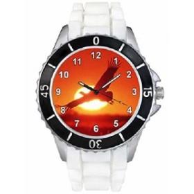 イーグルホワイトゼリーシリコーンバンド男女両用は腕時計を見せびらかします。