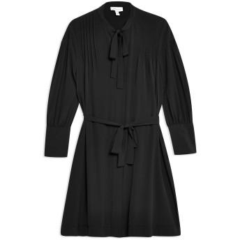 《セール開催中》TOPSHOP レディース ミニワンピース&ドレス ブラック 8 ポリエステル 100% PINTUCK MINI DRESS