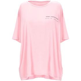 《期間限定セール開催中!》MM6 MAISON MARGIELA レディース T シャツ ピンク XS ポリエステル 94% / ポリウレタン 6%