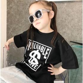 Tシャツ - NEXT WALL キッズ 子供服 Tシャツ ティーシャツ 女の子 ビックTシャツ ビッグTシャツ ダンス ゆったり 大きめ大きいガールズプリントTシャツ ジュニア 韓国子供服 110cm 120cm 130cm 140cm 150cm160cm「429-00」