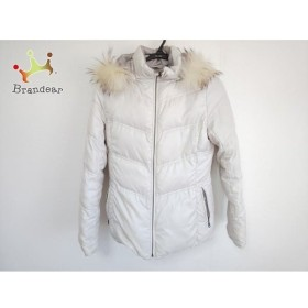 クミキョク ダウンジャケット サイズ2 M レディース アイボリー 冬物/リバーシブル 新着 20190407