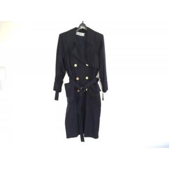 【中古】 イヴサンローラン YvesSaintLaurent コート レディース ネイビー シルク/春・秋物