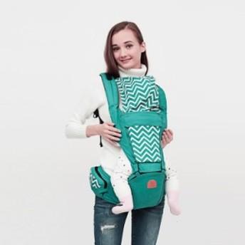 ベビー・ラップ・キャリア、ヒップシート 乳児、赤ちゃん、幼児用の綿グリーン