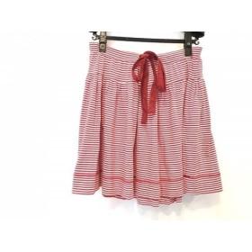 【中古】 ヴィヴィアンウエストウッドレッドレーベル スカート サイズ2 M レディース レッド 白 ボーダー