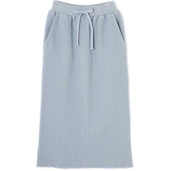 カットソーロングスカート ブルー